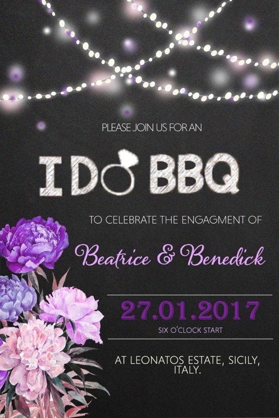 I DO BBQ Engagement Invitation u0026 Facebook