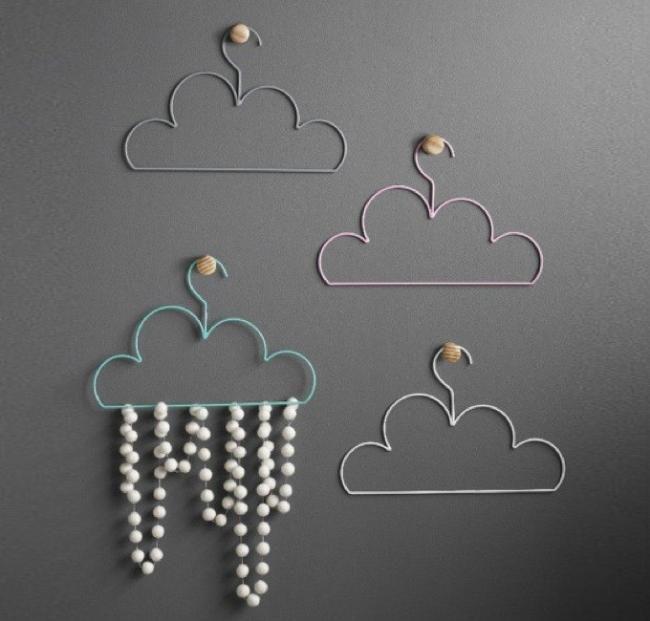 Perchas con forma de nube