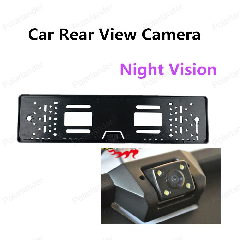 170° Night Vision License Plate Rearview Back Up Reverse Camera CMOS 4LED Camera