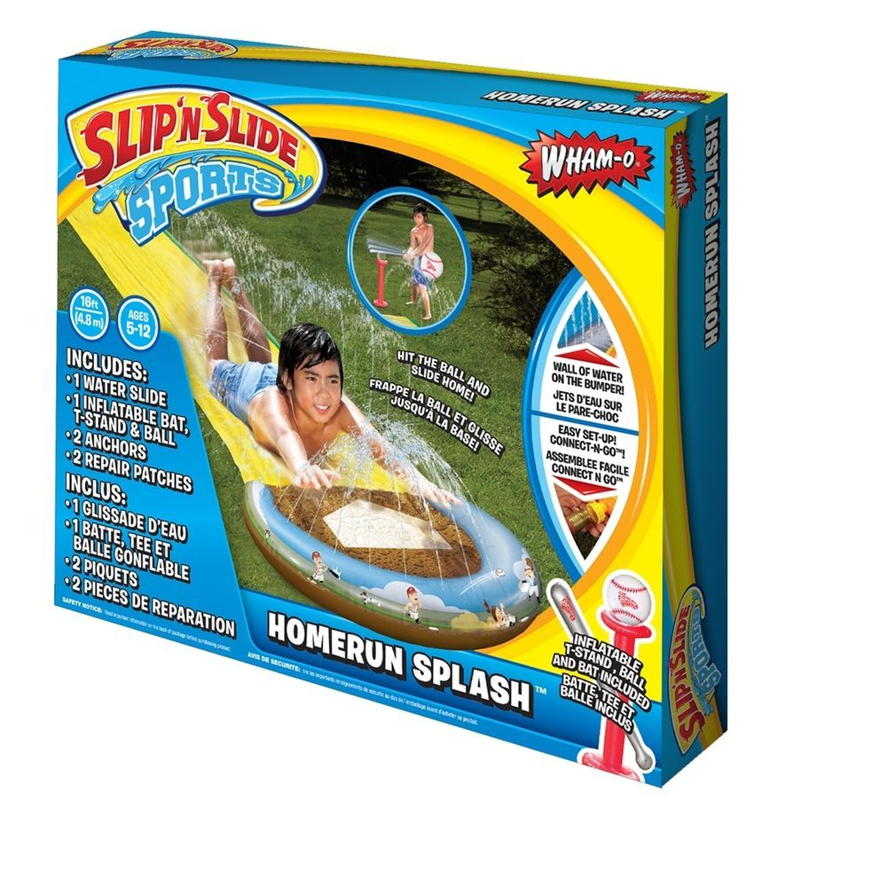 16 Feet Water Wham-o Slip-N-Slide Homerun Splash Ages 5-12 Kids Gift #WhamO