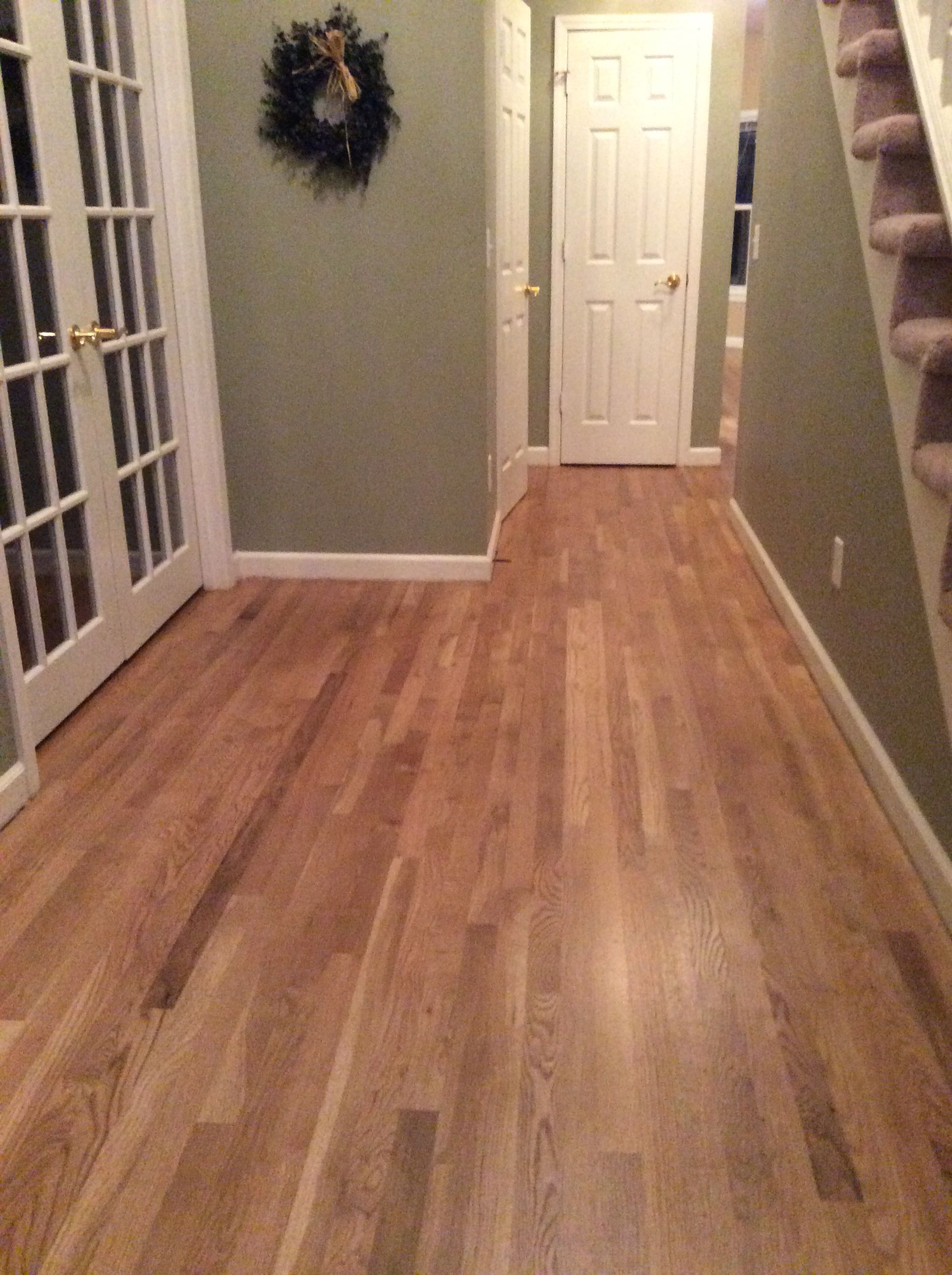New Hardwood Floors Select White Oak With Golden Stain