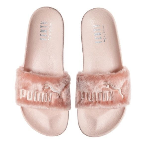 eb02e71211b Puma x Fenty Leadcat fur slippers pink 7.5 Brand new with box. Completely  sold out pink Puma x Fenty by Rihanna Leadcat fur slippers in size 7.5.
