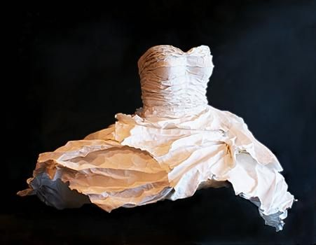 """""""Oceanic""""Handmade Paper Dress"""