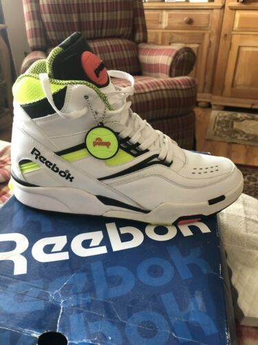9bac808be265 Details about DS New w Box Reebok Twilight Zone The Pump White Neon ...