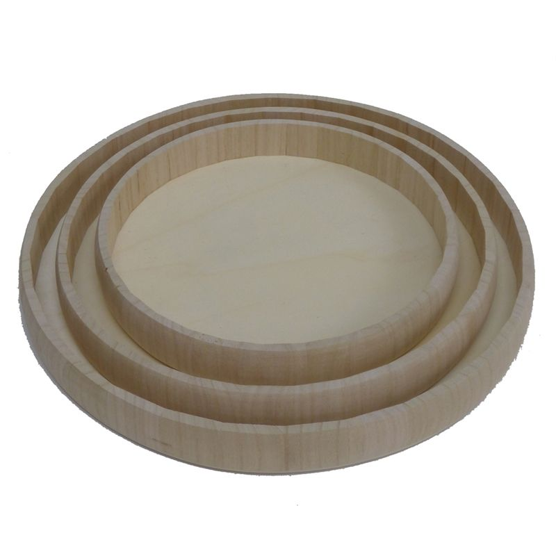 Find Boyle Round Wood Trays - Set Of 3 at Bunnings Warehouse  Visit