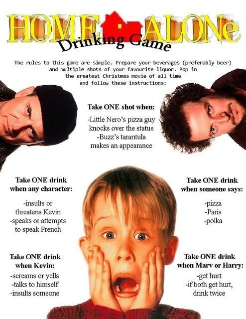 A Drinking Game to Prepare You For the Holidays (okay definitely not the greatest Christmas movie of all time, but still sounds fun lol)