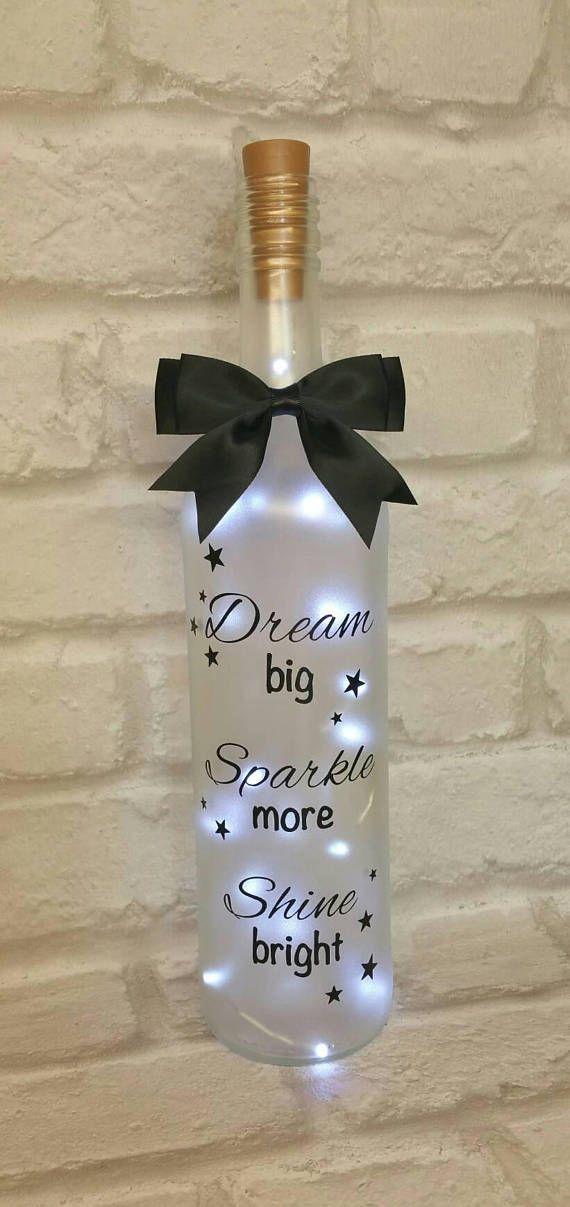 Light up wine bottle birthday gift Christmas