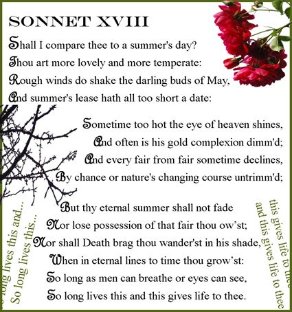 analysis and comparison of 2 sonnets Each of the three major types of sonnets accomplishes this in a somewhat different way  2 part structure: octave (8 lines)  the comparison in a metaphor may be.