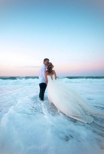 Lovely Photo Of The Wedding Couple On The Beach Beach Wedding