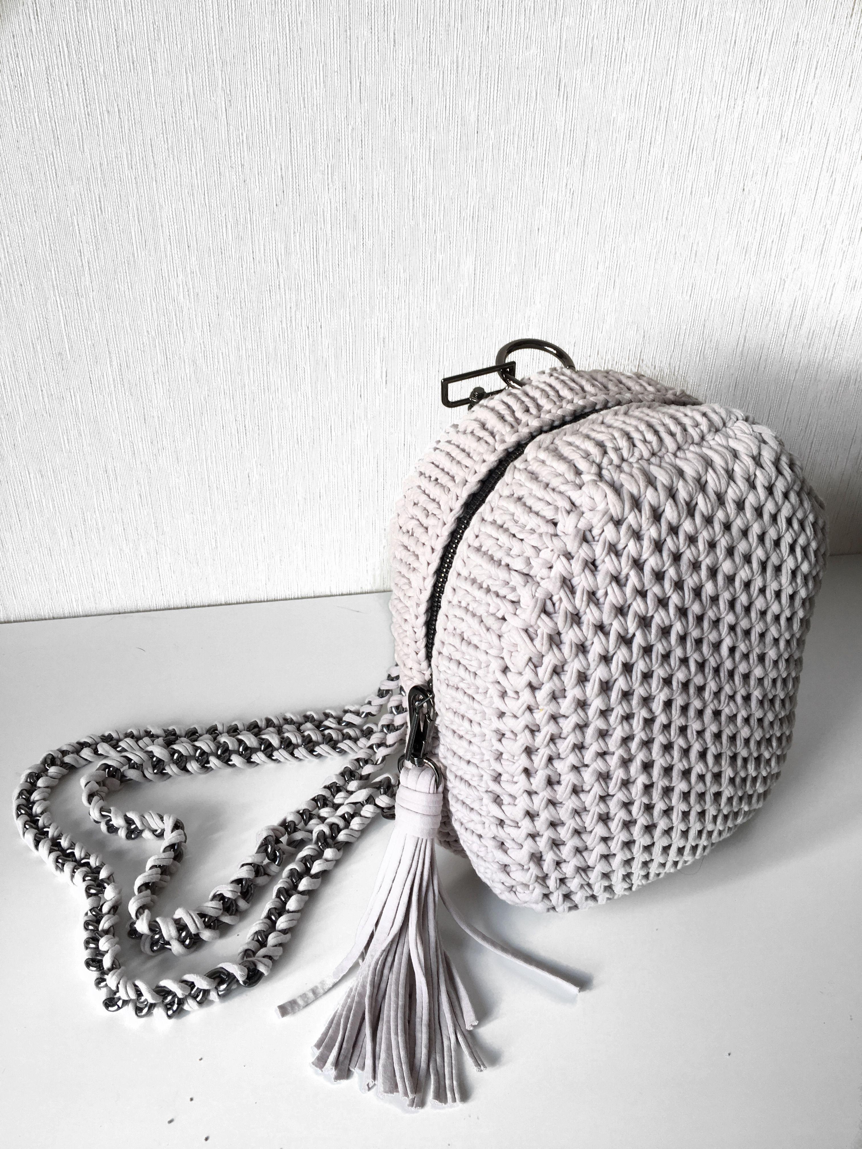 рюкзак из трикотажной пряжи рюкзак своими руками вязаный рюкзак