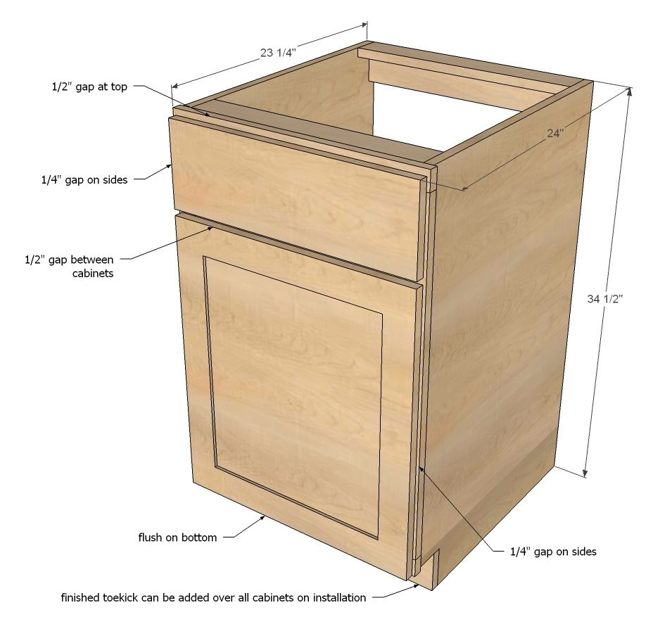 Frameless Kitchen Cabinets Plans | Kitchen Cabinets | Pinterest