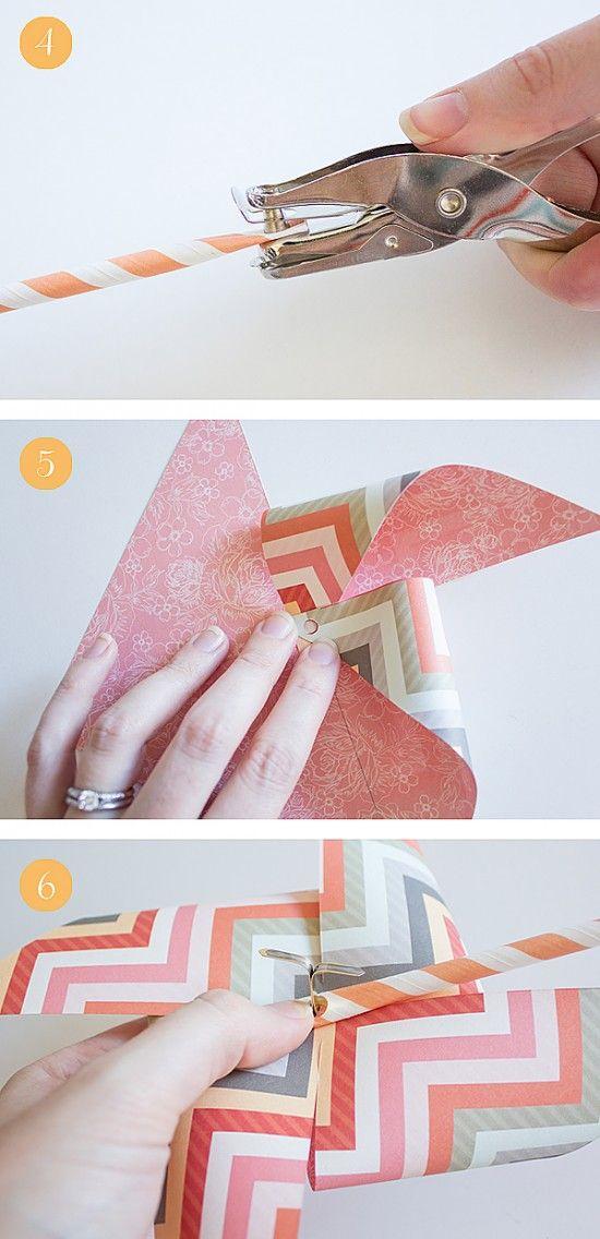 DIY Paper Pinwheels | Cumpleaños, Cumple y Hojas de referencia