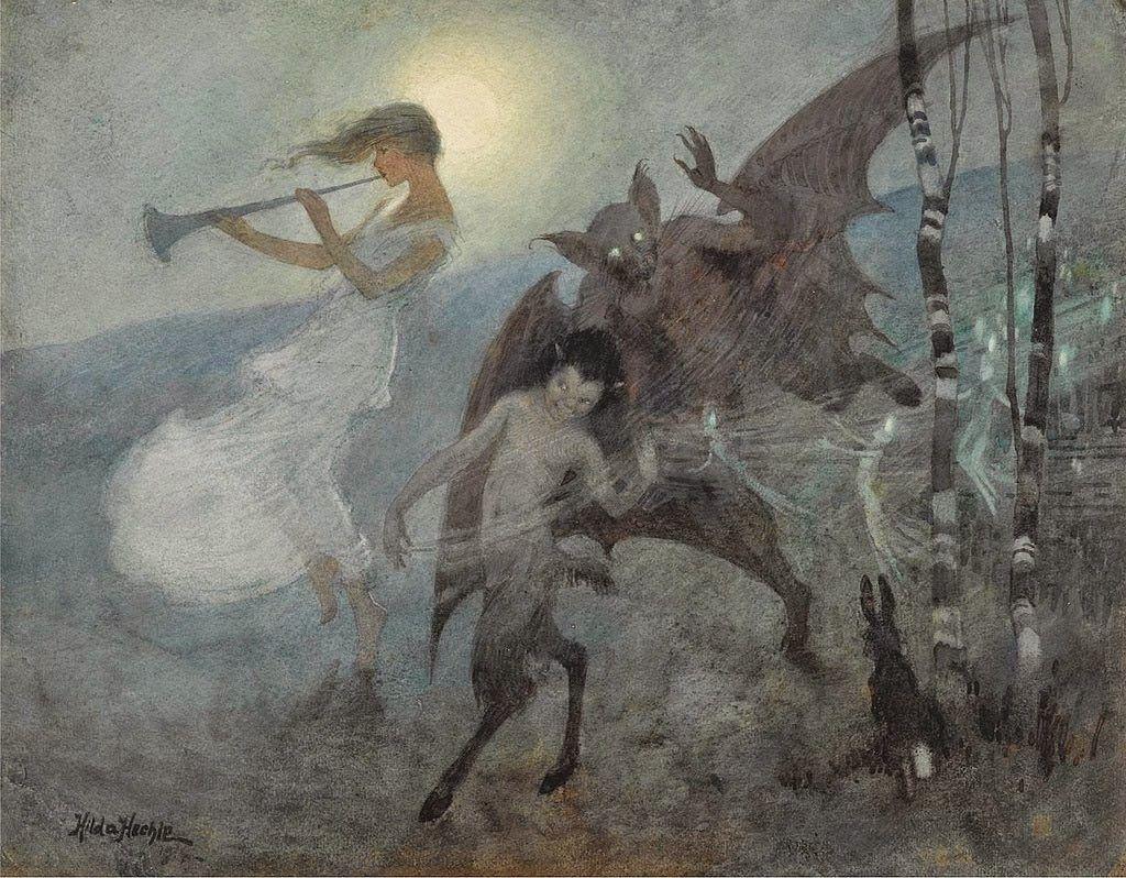 Hilda+Hechle+A+moonlight+phantasy+1930+via+darkclassics.jpg 1.024×798 piksel