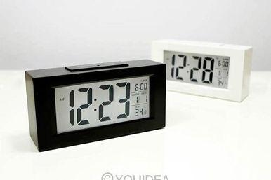Aesthetically Pleasing Digital Alarm Clock Nice Shape Clock That