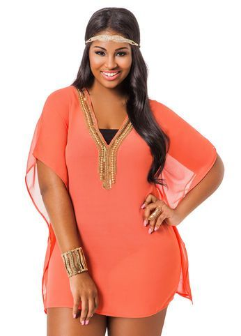 Beach Wear And Outfit Ideas For Curvy Women Plus Size