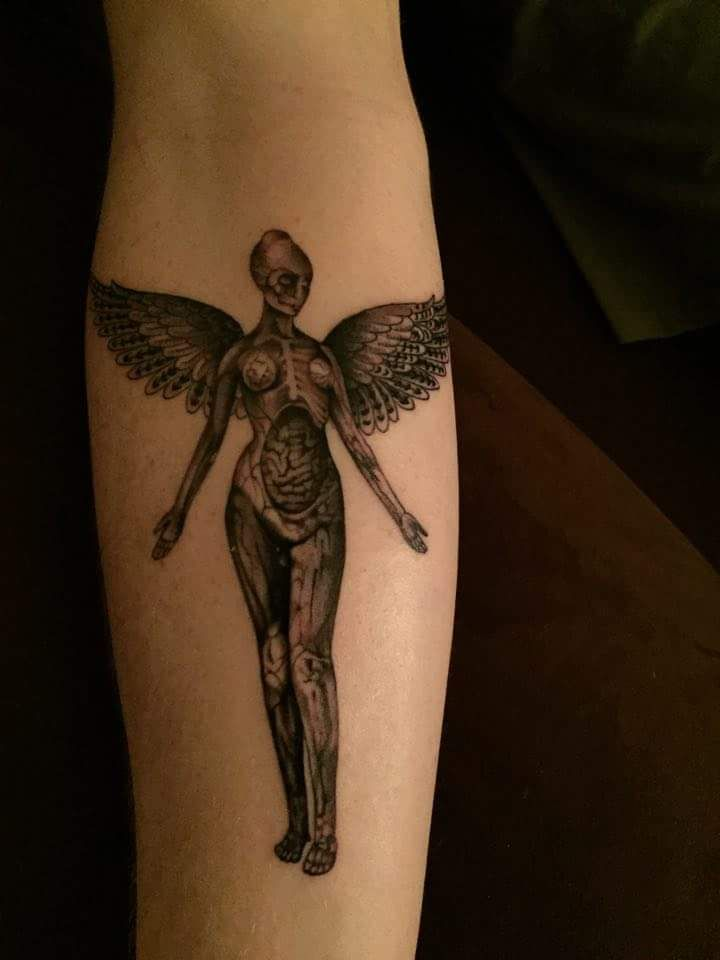 In utero think tank tattoo in denver co by adam van for Think tank tattoo