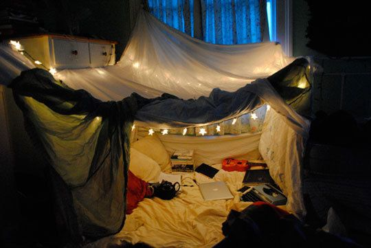 Someday I will have a house - that has a fort in it.