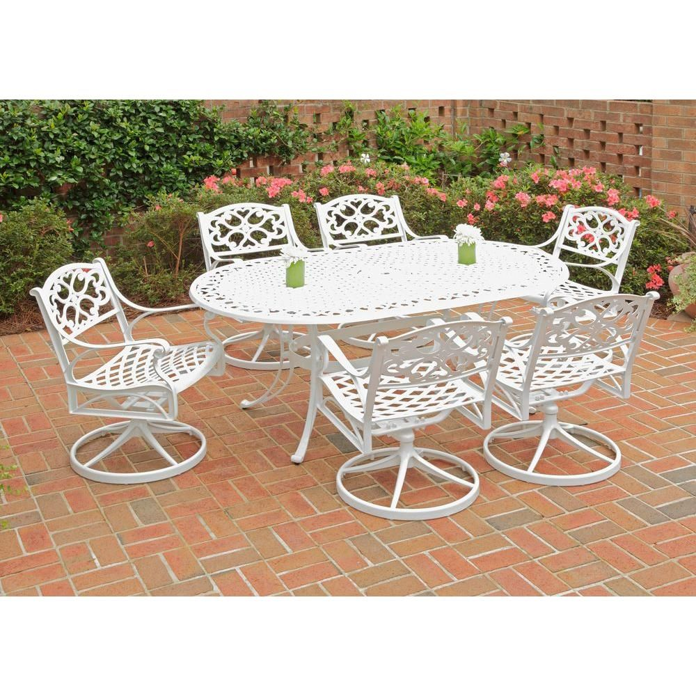 home styles biscayne white 7 piece swivel patio dining set with rh co pinterest com