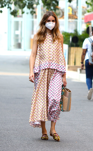 Olivia Palermo Brown Mules Street Style Spring Summer 2020 on SASSY DAILY