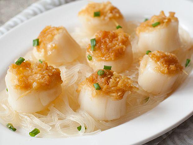 Steamed Scallops with Vermicelli | Recipe | Vermicelli recipes ...