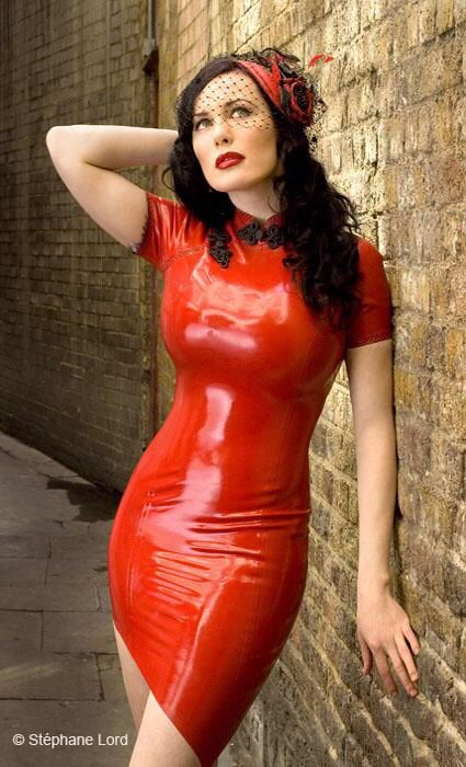 Red rubber dress