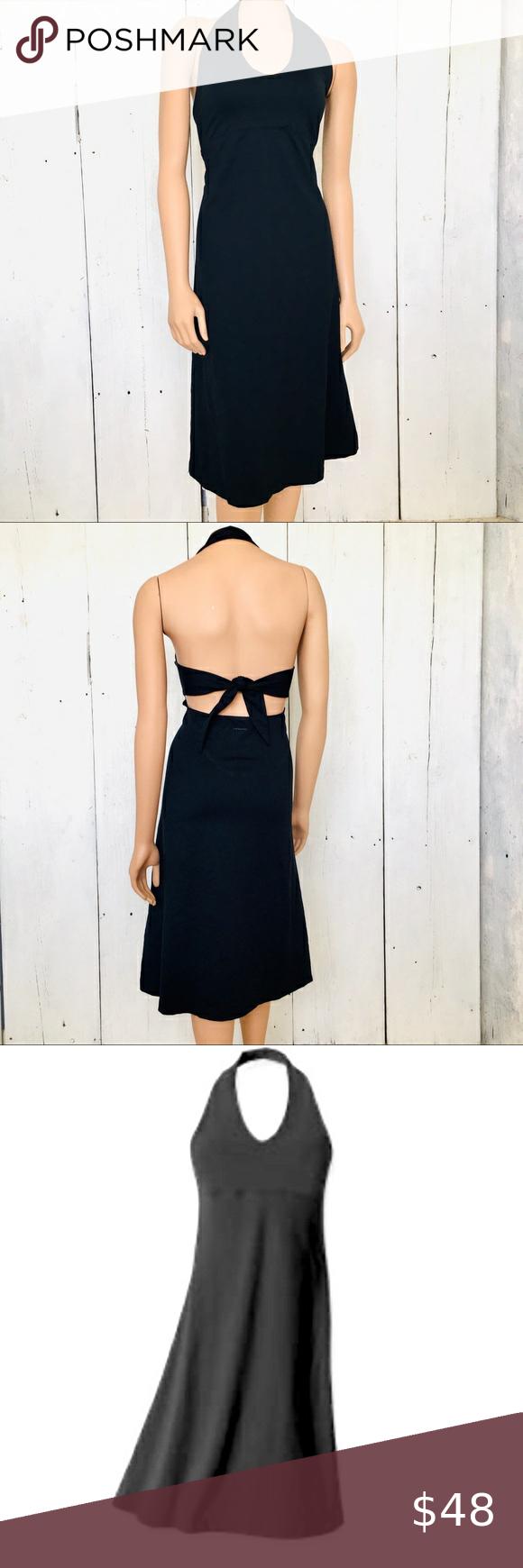 Patagonia Womens Black Stretch Halter Dress Xl Stretch Halter Dress Womens Black Dress Black Stretch [ 1740 x 580 Pixel ]