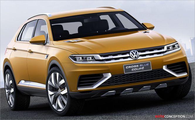 volkswagen reveals crossblue suv coup concept automotives rh pinterest es