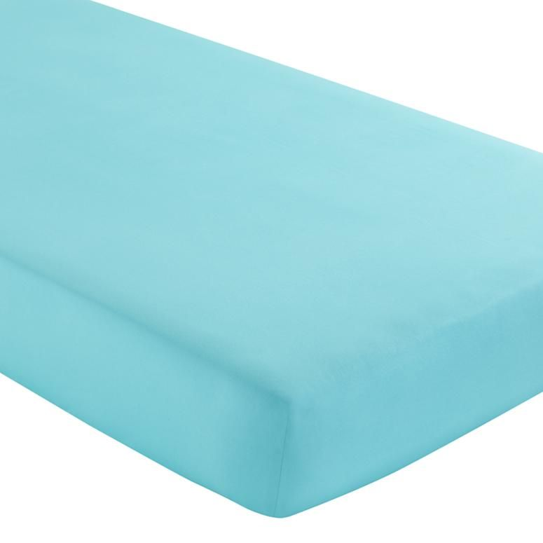 Baby Sheets: Aqua Crib Fitted Sheet in Crib Fitted Sheets