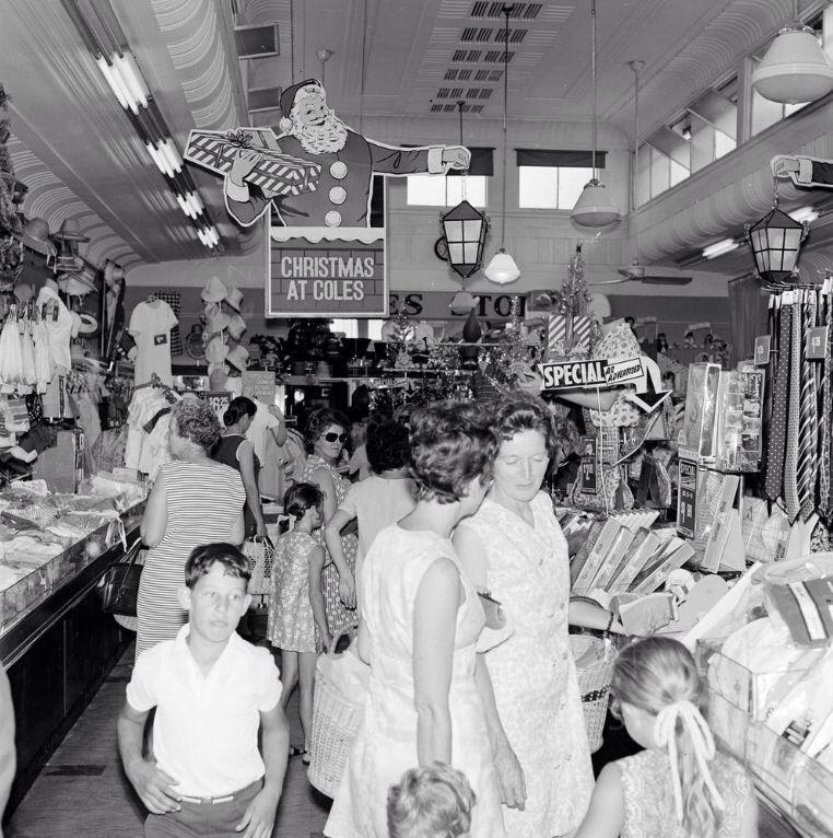 Christmas at Coles. 1970 Melbourne victoria, Victoria