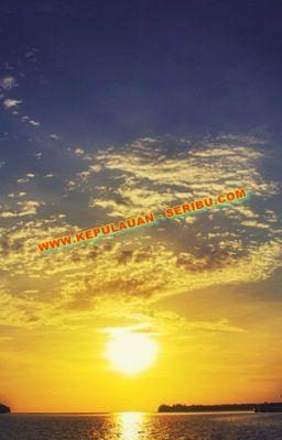 sunset di pulau seribu fenomena alam yang sangat indah pulau rh pinterest com