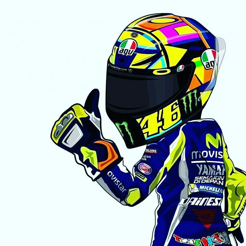 Vale Cartoon Racing Valentino Rossi Valentino Gambar