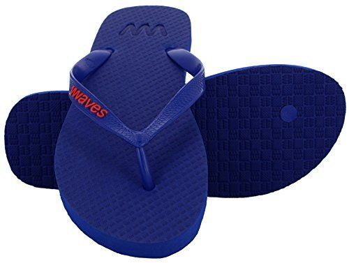 b3c6be96438d Waves 100% Natural Rubber Flip Flops for Men and Women Unisex Regular Fit  Sandals Slippers - Essentials