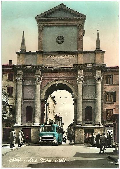 Chieri, Arco monumentale con passaggio del filobus - 1963 | Chieri ...