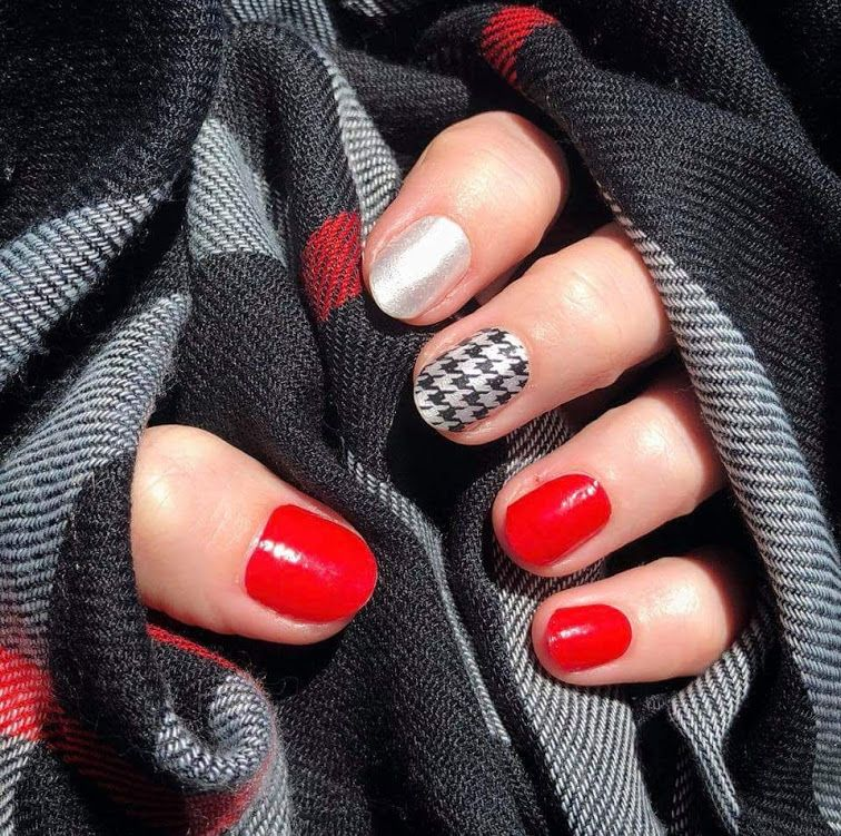 Great Fall Plaid....Highland Houndstooth with Baton Rougey Accent ...