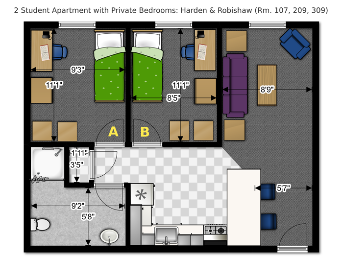 floor plans office of residence life university of wisconsin studio apartment floor plansapartment plans2 bedroom - Apartment Floor Plans 2 Bedroom