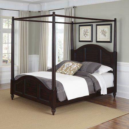 bermuda queen canopy bed espresso finish for emma queen canopy rh pinterest com