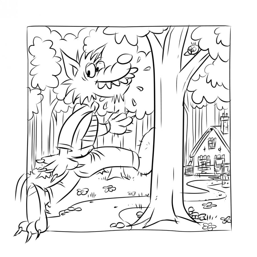 Roodkapje Little Red Riding Hood Coloring Pages Fairy Tales