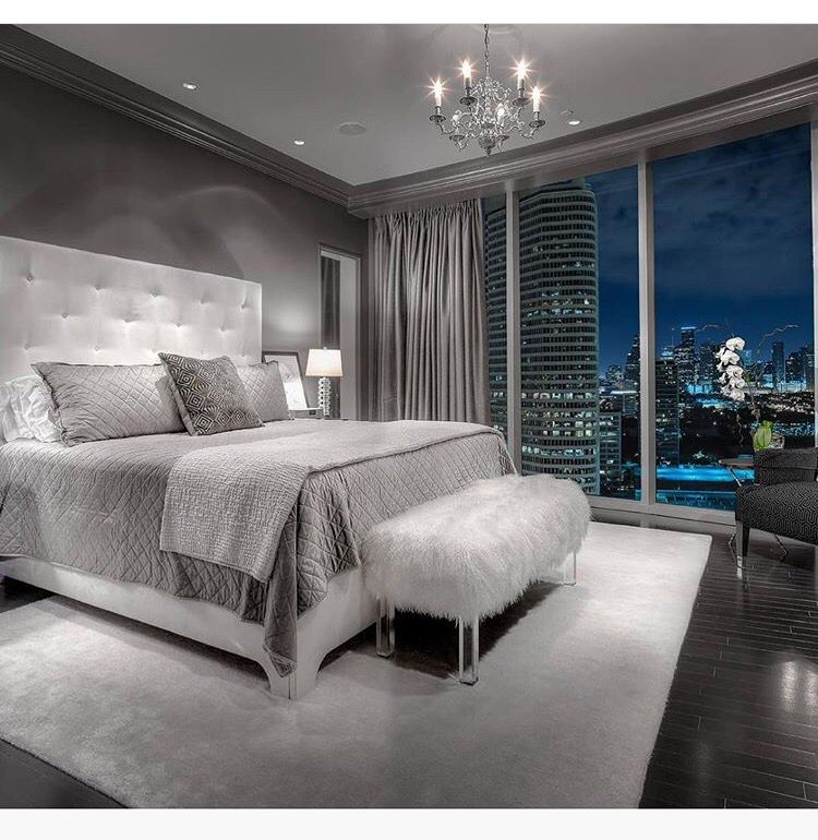 dream master bedroom%0A    Beautiful Gray Master Bedroom Design Ideas  Style Motivation my dream  masters bedroom with the big full windows all around it
