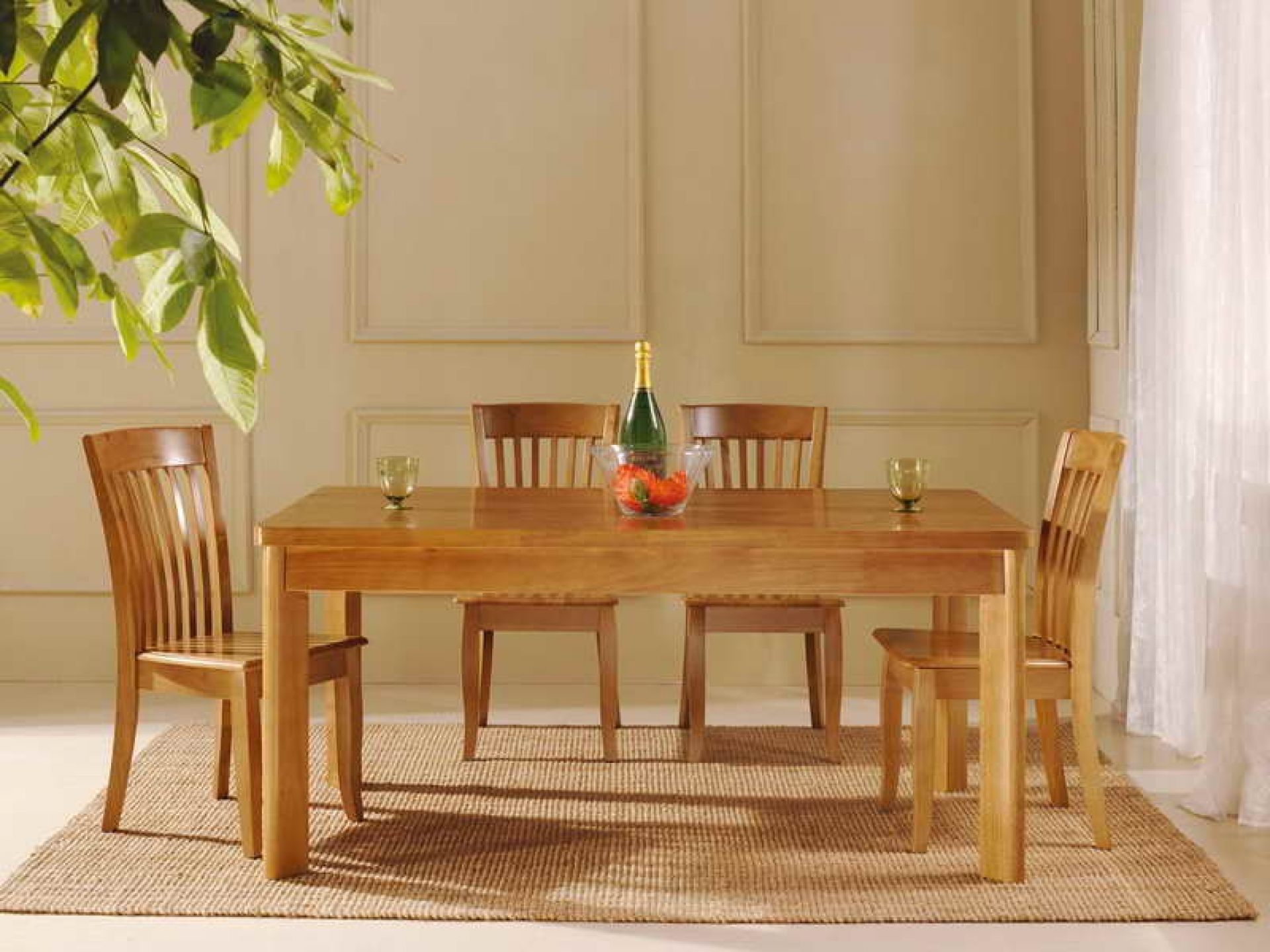 rustic dining set oak wood materials with long dining table and four rh pinterest com