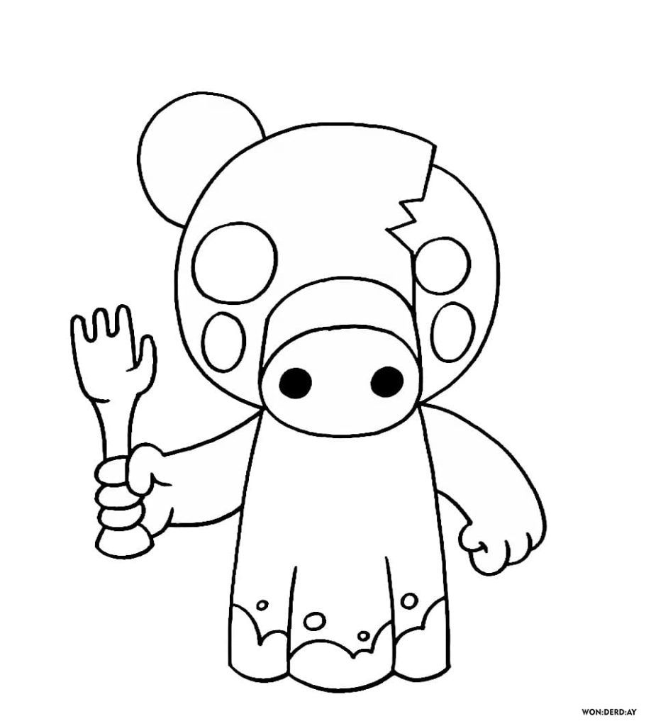 Dibujos De Roblox Para Colorear De Piggy Robot Roblox Piggy Coloring Pages Robby Busqueda De Google In 2020 Roblox Coloring Pages Piggy