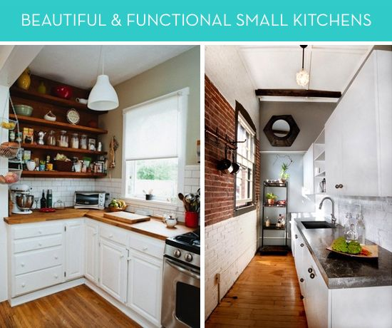 eye candy 7 beautiful and functional small kitchens charming rh pinterest com