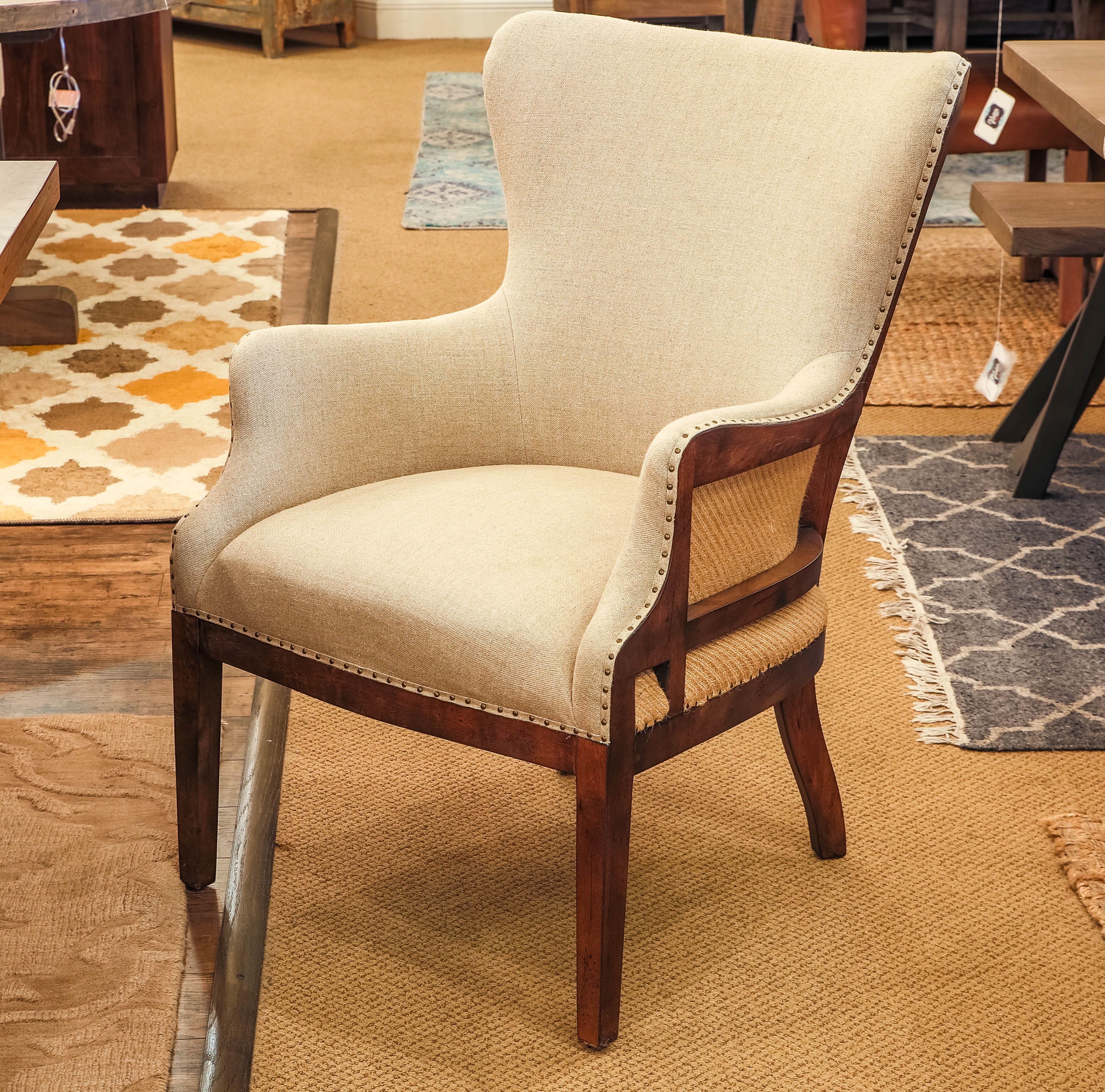 alexander deconstructed arm chair linen chestnut vintage home rh pinterest com
