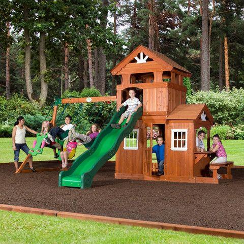 Shenandoah Wooden Swing Set Wooden Swings Swings And Backyard