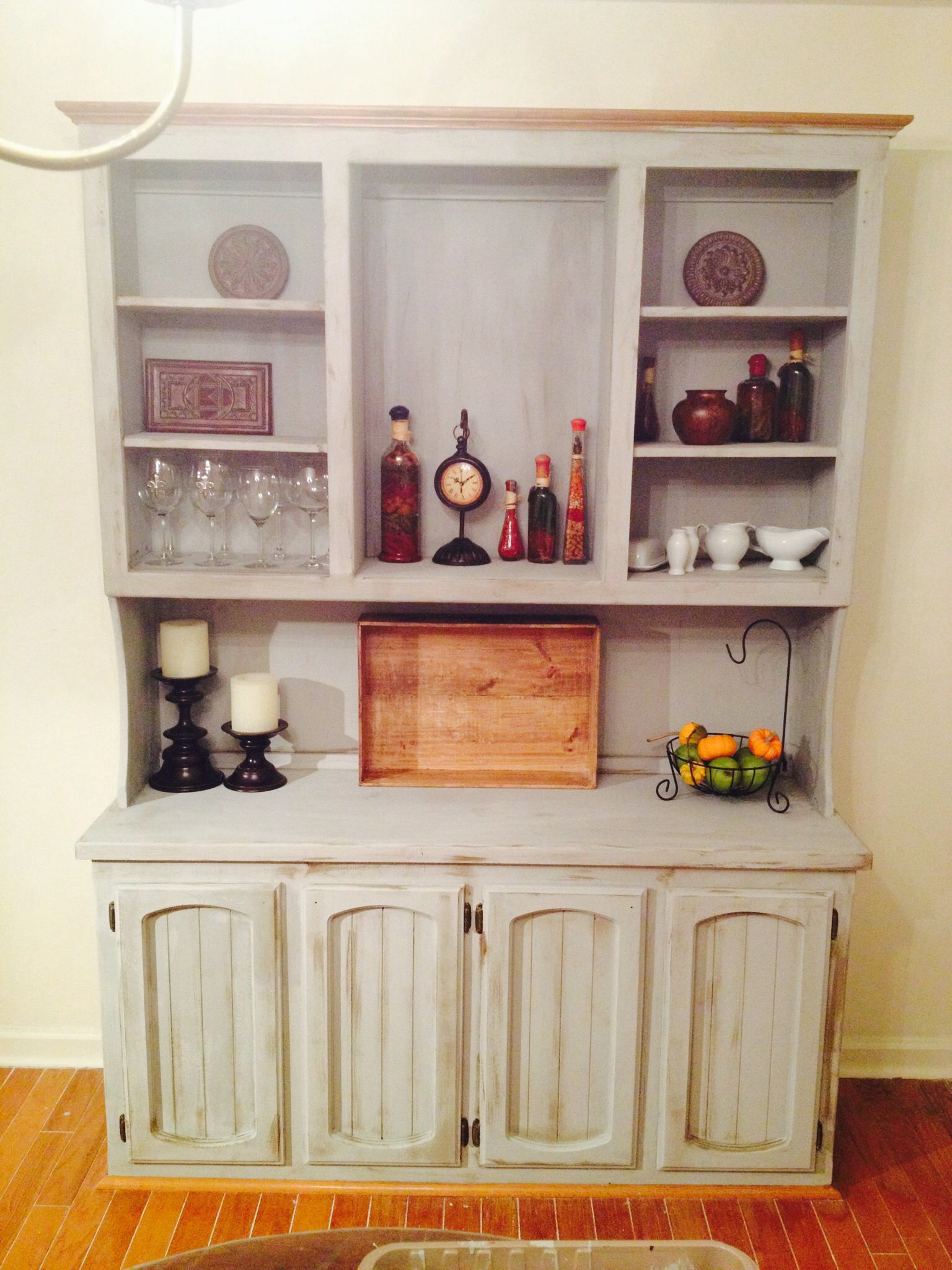 Refinished china cabinet #anniesloan #chalkpaint #parisgrey