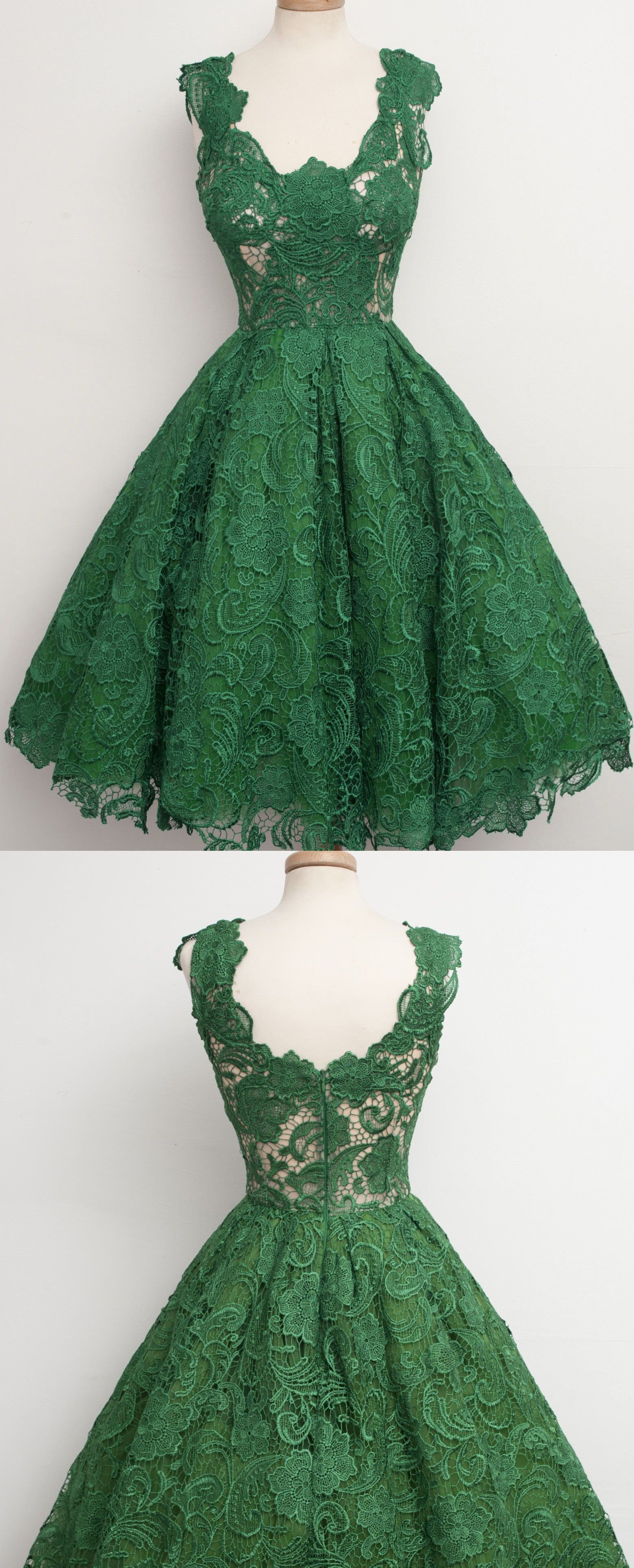 Scalloped homecoming dresses green short prom dresses