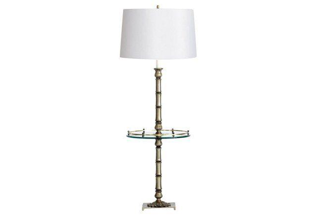 Laurel Faux Bamboo Floor Lamp W Table Lamp Bamboo Floor Lamp Floor Lamp