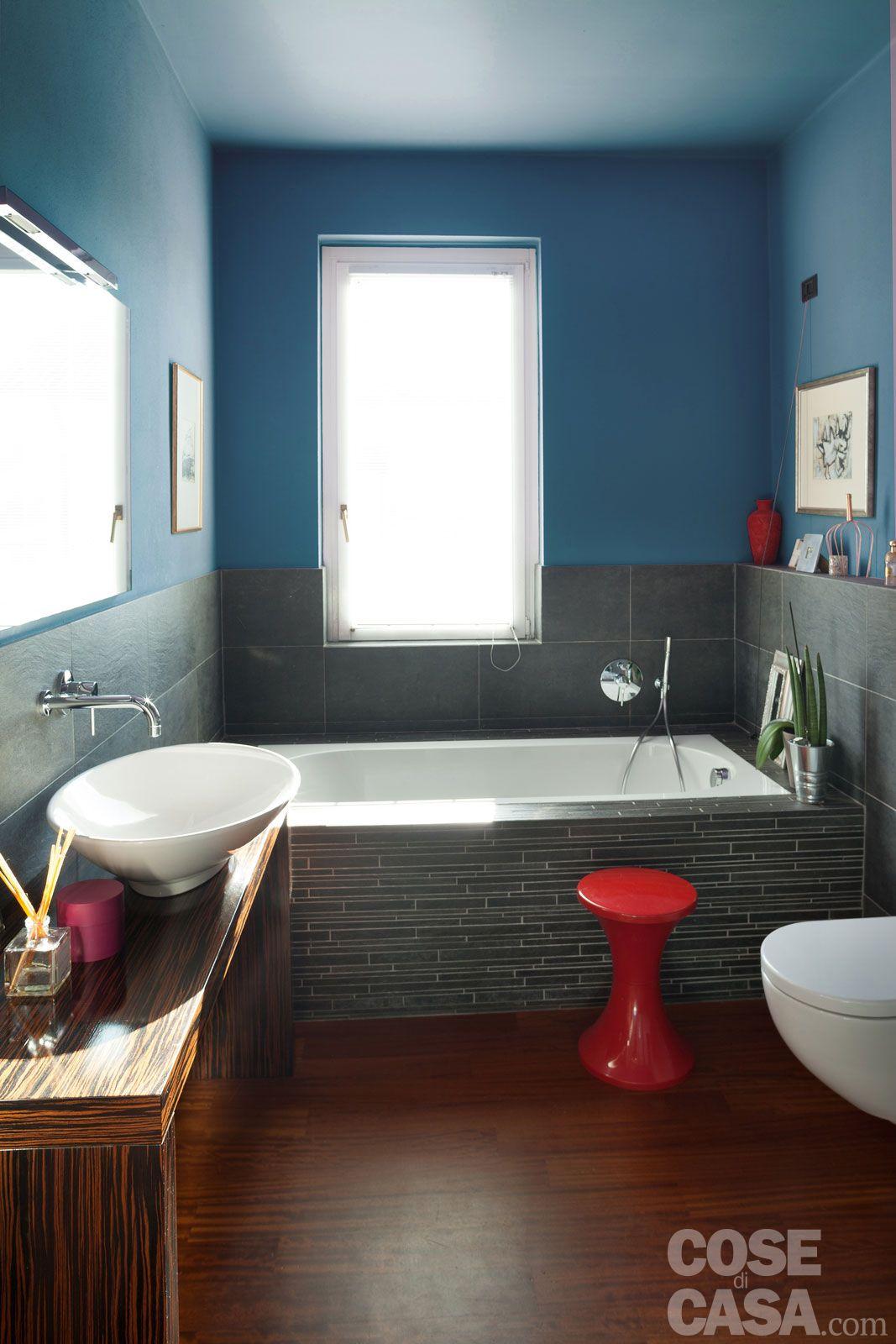 Bagno Moderno Con Gradino.Se Bagno Moderno Con Vasca Incassata Filo Pavimento Di