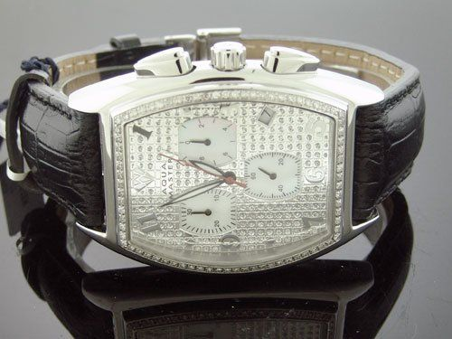 new men s aqua master 1 00ct silver face diamond watch 395 new men s aqua master 1 00ct silver face diamond watch 395