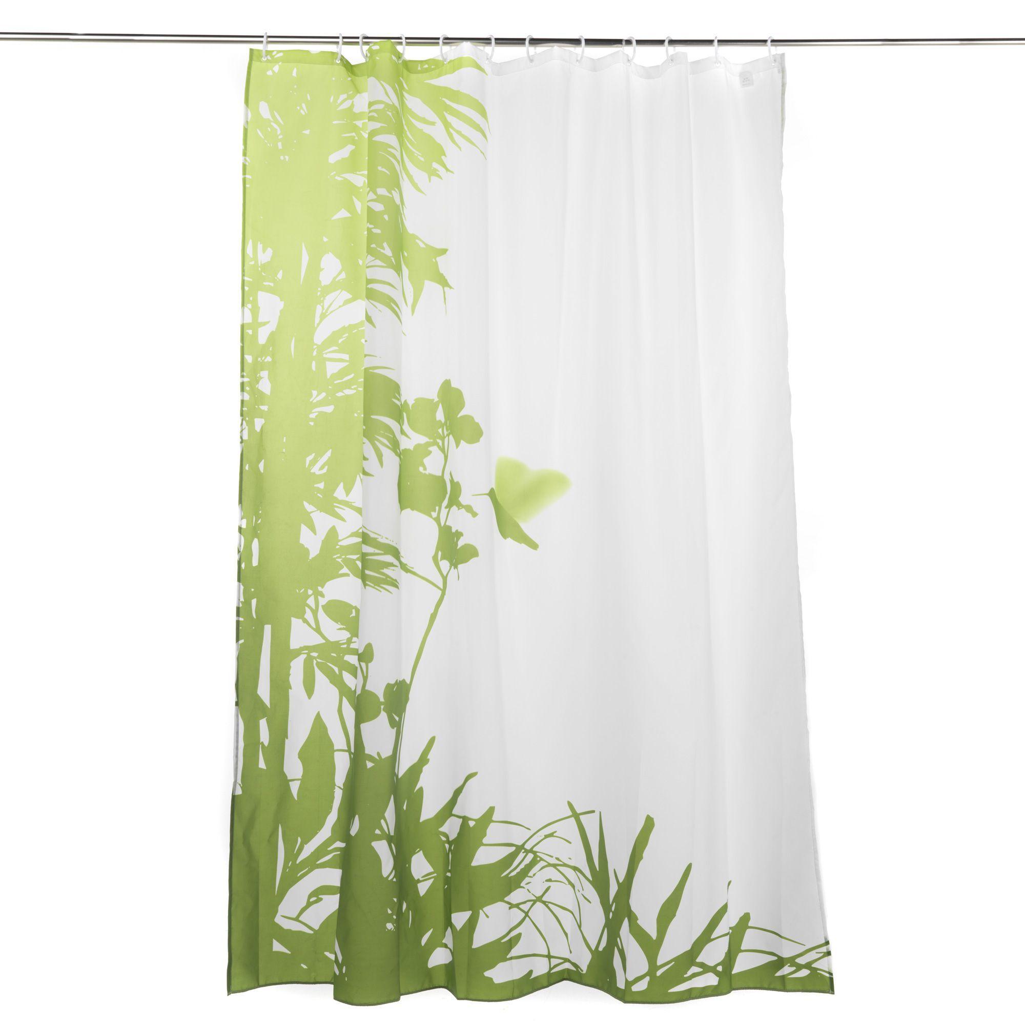 Rideau de douche Vert/Blanc - Jungle Bain - Rideaux de douche ...