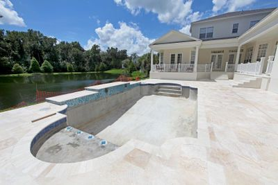 Travertine Pavers A Cool Choice For Your Pool Deck Pricer